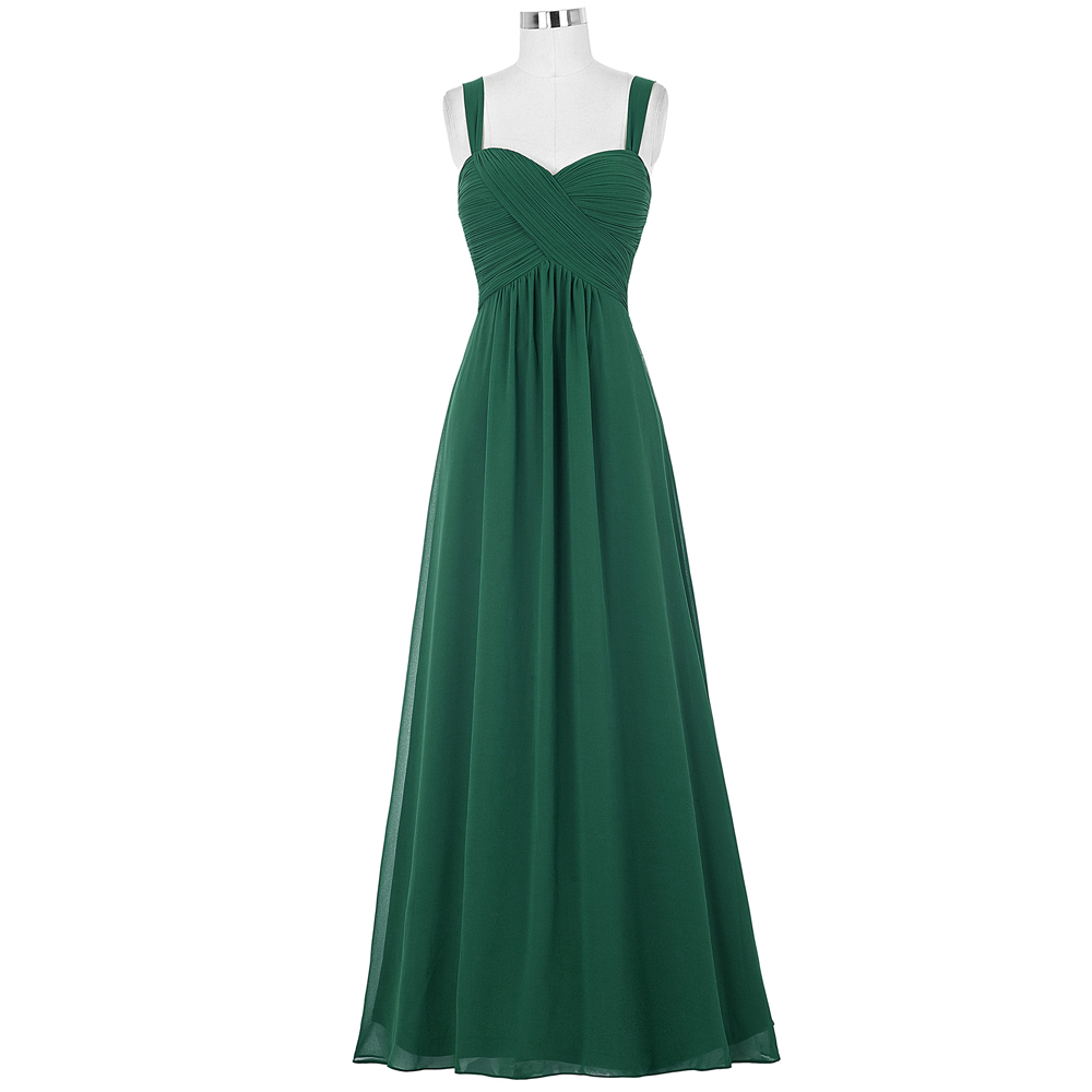 Kate Kasin Women Dresses Long Emerald Green Chiffon Dress 2017 Robes De Soiree Longue Royal Blue Purple Wedding Dinner Dress