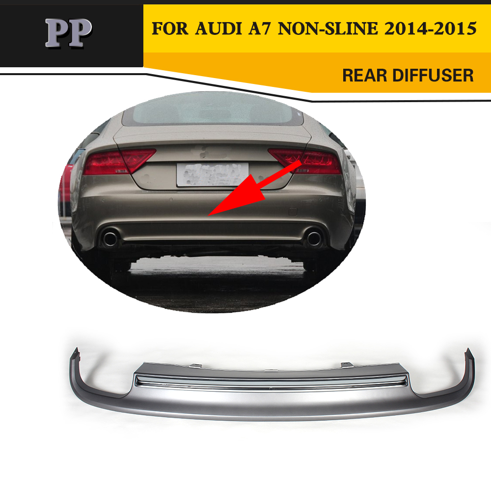 Auto car PP <font><b>Rear</b></font> Bumper Lip <font><b>Diffuser</b></font> For <font><b>Audi</b></font> <font><b>A7</b></font> standard bumper 2014-2015 image