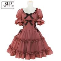 Women Alice Lolita Angel Pink Cotton Princess Dress Plus Size Gothic Lolita Dress Costume Cute Anime Maid Layer Dress For Girls