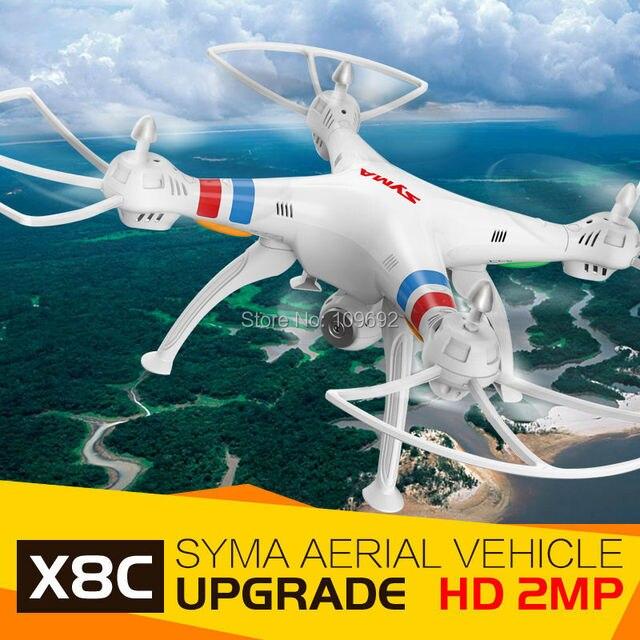 Бесплатная доставка 100% Оригинал Syma X8C Предприятие RC Беспилотный 6-осевой 4CH 2.4 Г 2-МЕГАПИКСЕЛЬНАЯ HD Камеры Воздушная Quadcopter Вертолет vs X101 X600 X6