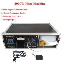 Alta saída 2000 w haze máquina 3l tanque líquido máquina de nevoeiro dmx512 para discoteca dj festa palco led efeito iluminação equipamentos