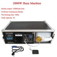 High Output 2000W Haze Machine 3L Liquid Tank Fog Machine DMX512 For Disco DJ Party Stage LED Effect Lighting Equipment все цены