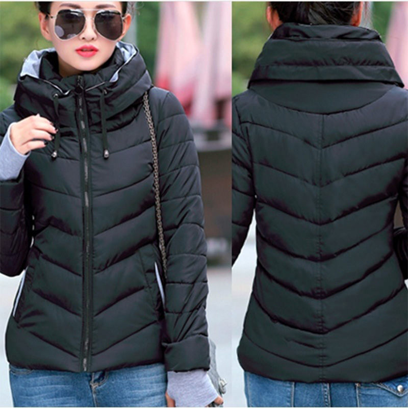 Zogaa 2019 Winter Jacket Coat Women   Parka   Plus Size S-3XL Zipper Thick Cotton Casual Jacket Slim Fit Coat Womens Clothing