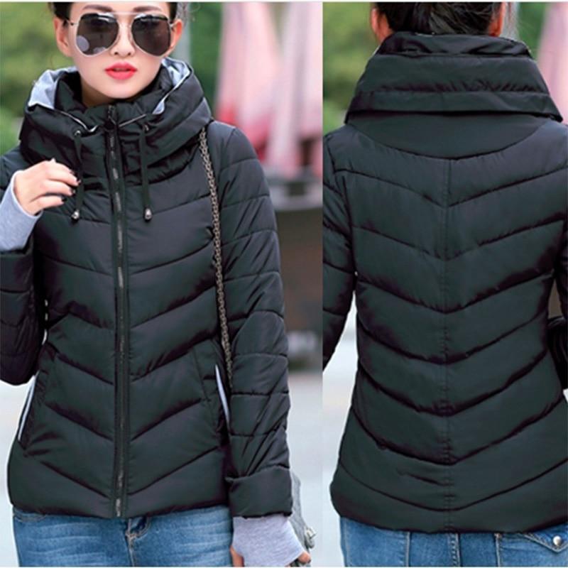 Zogaa 2019 Winter Jacket Coat Women   Parka   Plus Size S-3XL Zipper Thick Cotton Casual Jacket Slim Fit Coat Womens Clothing