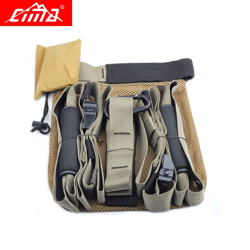 CIMA Resistance Bands Crossfit Fitness equipment hanging training strap Strength Exerciser Pull Rope belt Suspension Yoga band 5pcs set 0 35 1 1mm yoga resistance bands arm thigh strength training fitness belt exerciser force equipment strap wholesale