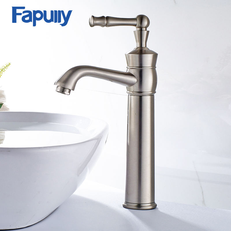 Basin Faucet Gilt Porcelain Golden Bronze,White Painting Deck Mounted Cold Hot Washroom Water Sink Mixer Tap M227W