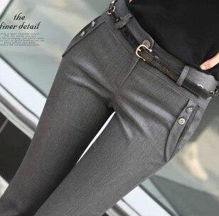 Женский костюм со средней талией, брюки размера плюс, повседневные рабочие штаны OL,, весна-осень, деловые серые брюки, модные брюки с поясом