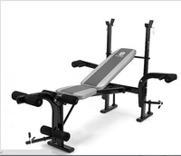 Home Indoor Multifunction Fitness Equipment Sit Up Bench Adjustable Crunch Board Barbell Rack Solid Steel Weightlifting Training