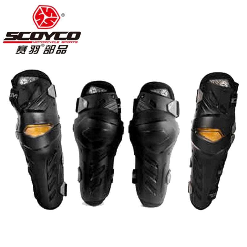2018 New SCOYCO motorcycle Kneecap kneepad locomotive anti falling protector riding equipment knee elbow of PC CE certification new 4 piece set motorcycle kneepad motocross motorbike elbow