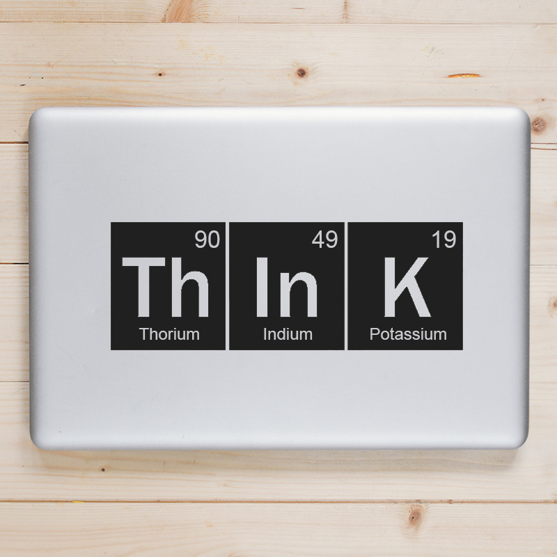 Periodic Table Think Quote Laptop Decal for Apple Macbook Sticker Pro Air Retina 11 12 13 15 inch Mac Book Skin Notebook Sticker