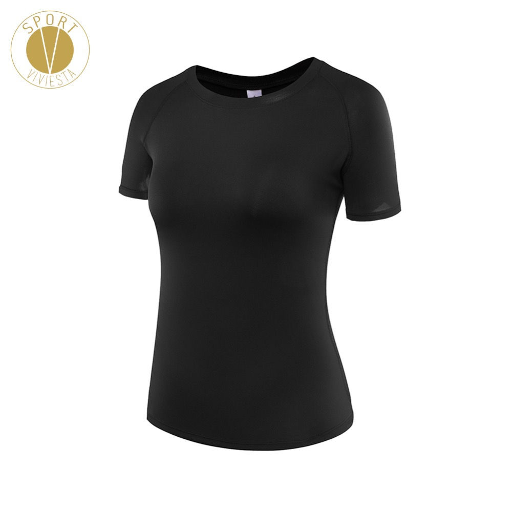 Slim Fit Crop Sports T-shirt - Women's Run Running Training Boxing Soft Leisure Short Sleeve Top Tee Activewear XL Plus Size