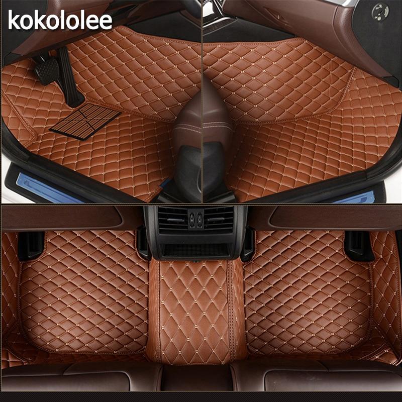 Kokololee Personnalisé de voiture tapis de sol pour Kia Tous Les Modèles rio ceed sportage cerato k2 k3 k4 k5 carnaval voiture style accessoires de voiture