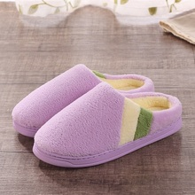 Hot Sale Lovers Autumn&Winter Warm Cotton-padded Cute  Plush Platform Women&Men Home Shoes Antiskid Indoor Slippers AWM20