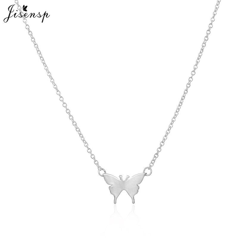 9f231ce23670 Jisensp 10 unids lote lindo mariposa colgante elegante Collares para las  mujeres simple animal mujeres largo collar n169