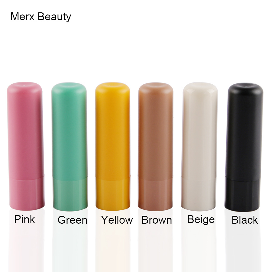 10/50PCS 4G Beige Round Lipstick Tube, Refillable Plastic Empty Lipstick Container, Lip Balm Case, DIY Makeup Tool, Merx Beauty high quality lipstick tube 12 1mm square metal diy empty coffee purple pink travel lipstick tube wholesale makeup tool packaging