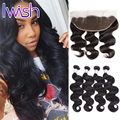 Lace Frontal Closure With Bundles 7A Peruvian Body Wave With Closure Full Lace  Frontal Closure Peruvian Virgin Hair Body Wave