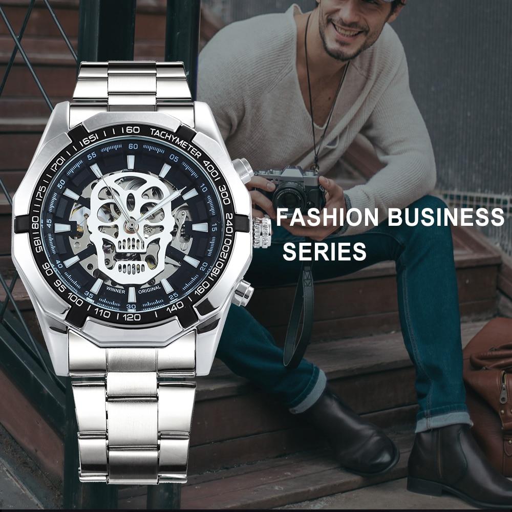 HTB1o.3drQSWBuNjSszdq6zeSpXai WINNER New Fashion Mechanical Watch Men Skull Design Top Brand Luxury Golden Stainless Steel Strap Skeleton Man Auto Wrist Watch