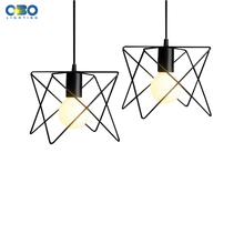 Black Iron Frame Vintage Pendant Lights  Bar/Clothing store/Coffee House Indoor Lighting Cord Wire Lenght 1.2m E27 110-240V  vintage pendant lamp hemp rope weave iron lampshade creative shop coffee house indoor lighting pendant lights bar e27 110 240v