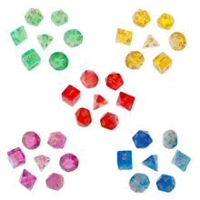 7pcs/set Polyhedral Sided Dice D4 D6 D8 D10 D12 D20 For Board Game D&D RPG Poly Table Game цены онлайн