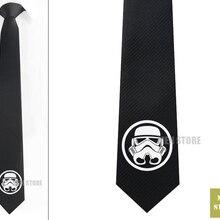 """Звездные войны Штурмовик сигил Мужские жаккардовые тканые узкие 2,"""" галстук 6 см Галстук Свадебная вечеринка галстук для жениха запонки LK014M"""