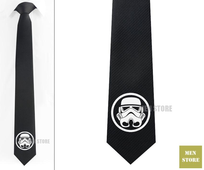 Star Wars Stormtrooper Sigil Men Jacquard Woven Skinny Narrow 2.3