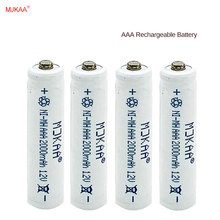 4pcs AAA 2000mAh 7# Rechargeable Battery Ni-MH Rechargeable 3A Battery for Remote Control Toy 16 inch rechargeable realistic remote control snake toy