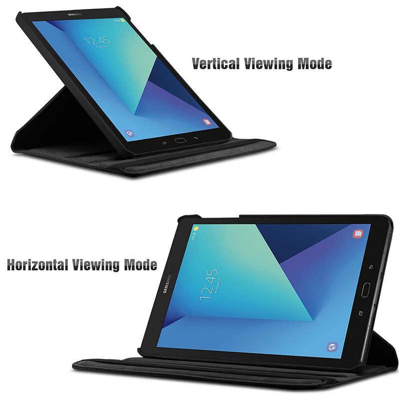 Funda inteligente giratoria de 360 grados para Samsung Galaxy Tab S3 9,7 T820 T825 Funda de cuero PU Flip Stand Tablet cubierta