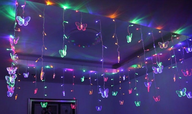 5mx1m wedding butterfly led curtain string light ceiling holiday fairy lights party venue store decoration christmas suppliesin led string from lights