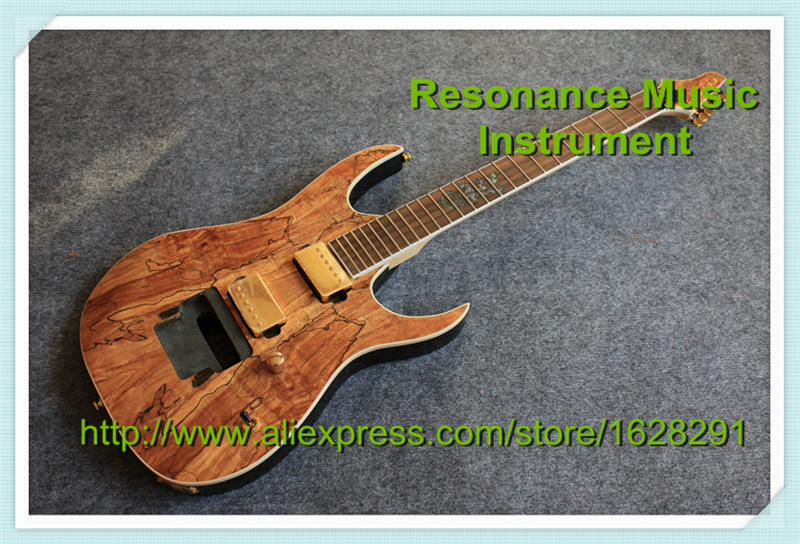 Custom Shop Newest Arrival ESP Electric Guitar Kit Natural Wood Finish Earth Grain & Left Handed Guitar Available custom shop electric guitar kit nature wood grain finish solid mahogany guitar body for sale