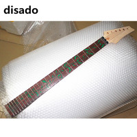disado 24 Frets maple Electric Guitar Neck rosewood fingerboard inlay green tree of life wood color Guitar accessories parts