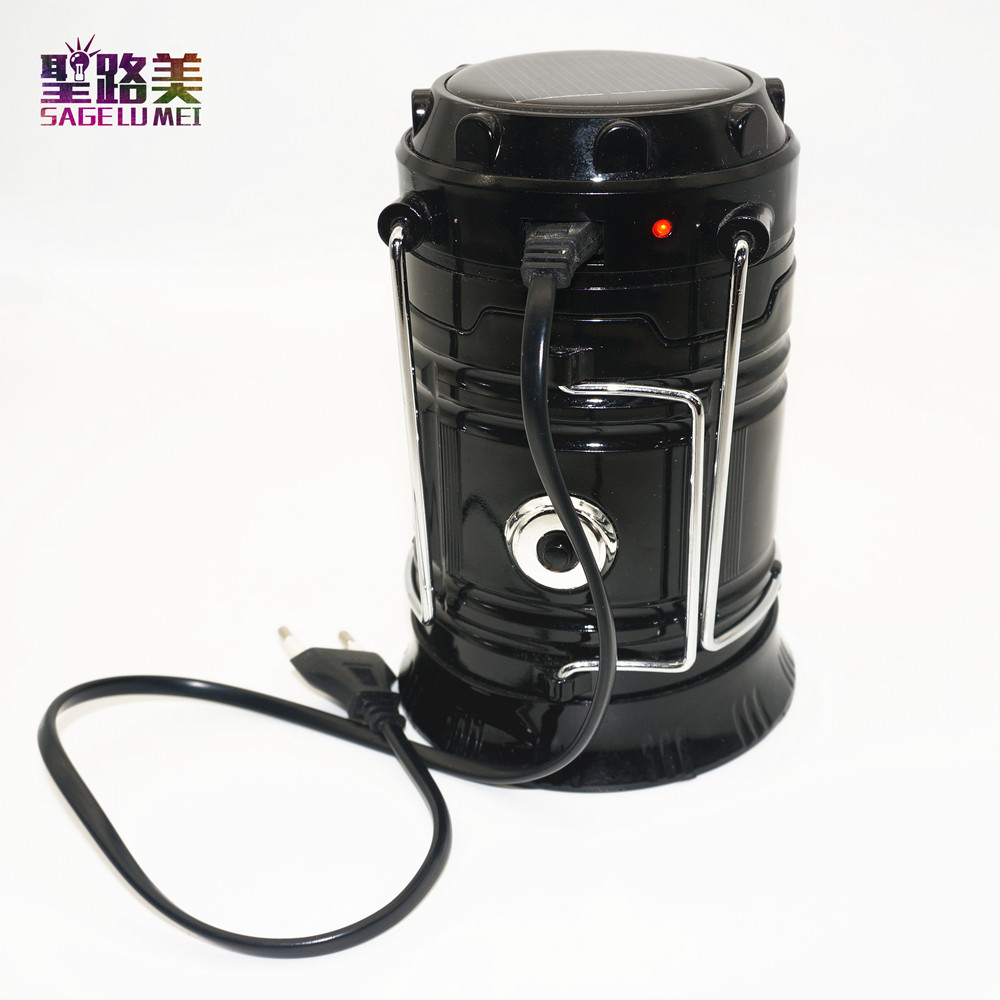 Outdoor lighting Portable Solar Charger Camping Lantern Emergency Tent light Waterproof Rechargeable Hand Lamp Crank Light