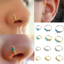 New Style 1xStainless Steel Nose Ring Earrings Nostril Hoop Nose Bijoux Earring Piercing Jewelry Novel Ornaments Oorbellen(China)