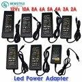 New  Converter Adapter led Power Supply for 5050 3528 5630 LED Strip Light led driver 12V/24V 2A/3A/4A/5V/6A/8A/10A AC 100V-240V