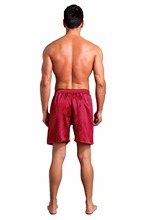 Red Men's Rayon Summer Shorts Leisure Pajamas Pyjamas Male Casual Lounge Short Pants Loose Soft Sleepwear Bottoms M L XL 2XL