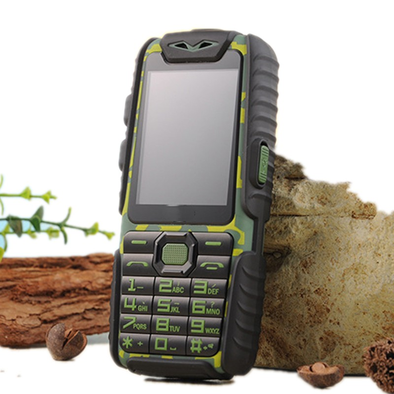 Цена за Водонепроницаемый A6 Power Bank Телефон Противоударный Громкоговоритель Сильный Фонарик Dual SIM 2.4 inch (Можно ДОБАВИТЬ Rusian Клавиатура)