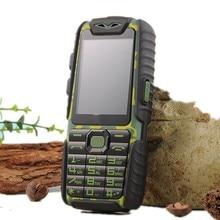 Étanche A6 Power Bank Téléphone Antichoc Haut-Parleur Forte lampe de Poche Dual SIM 2.4 pouces (Peut AJOUTER Rusian Clavier)