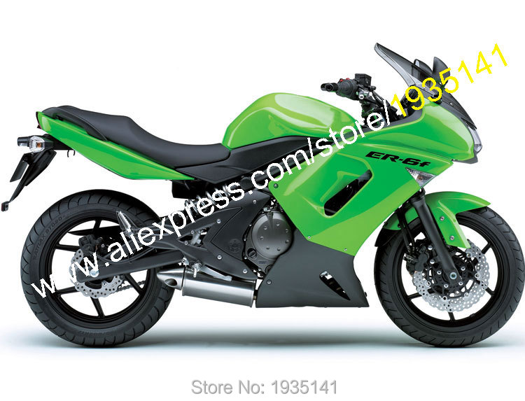 Hot Sales,For Kawasaki ER-6F ABS Parts 06 07 08 Body Kit ER6F 2006 2007 2008 ER 6F Ninja 650 Green Black Motorbike Fairing Set