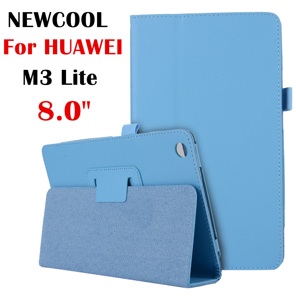 M3 lite 8.0 Litchi Stand Leather Case Flip Cover For Huawei Mediapad M3 Lite 8 CPN-W09 CPN-AL00 8 Tablet case shell for 2017 huawei mediapad m3 youth lite 8 cpn w09 cpn al00 8 tablet pu leather cover case free stylus free film