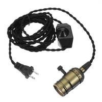 Retro Vintage E27/E26 Lampensockel Edison Pendelleuchte Halter Dimmer Kabel Hängen Deckenleuchte Birne Leuchte 110-220 V Us-stecker