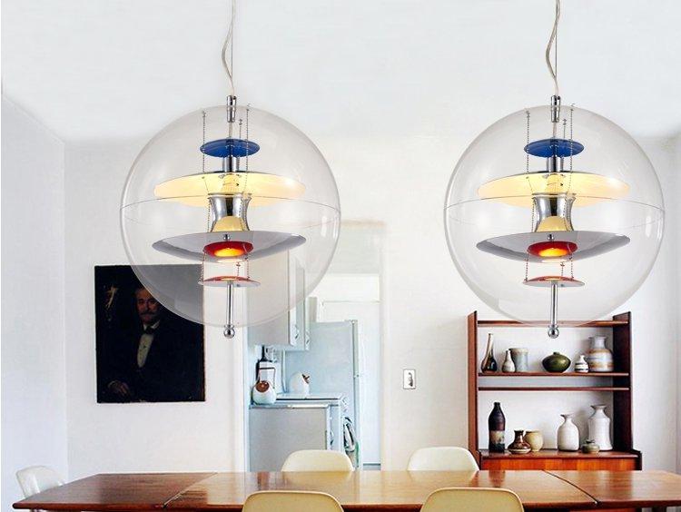 Lustre moderno Levou Pingente de Luz Bola De Luz Moderne Casa Acrílico Nórdicos Lustres De Teto Iluminação Cama Lâmpada De Suspensão Pendente