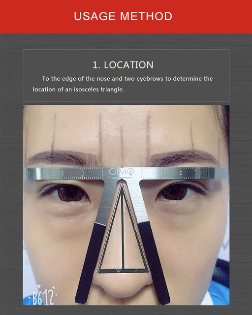 2019 HOT Tattoo Eyebrow Ruler 3d measuring ruler Balance Ruler Brow Template DIY Make Up Tools maquillaje profesional brow stenc 1