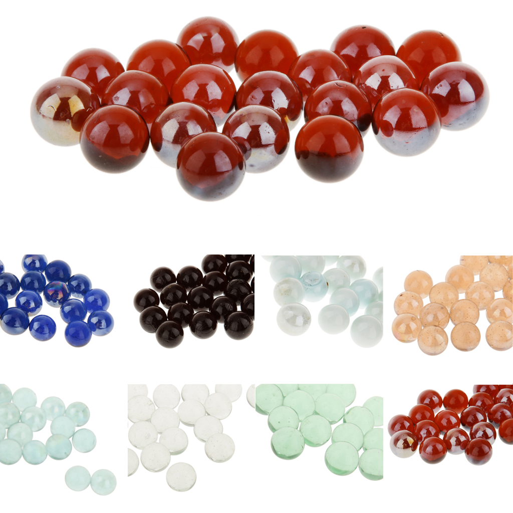 New 20pcs 16mm Assorted Glass Marbles Traditional Game Play Toy Classic Toys for Craft Collectibles Kids Christmas Gift Games