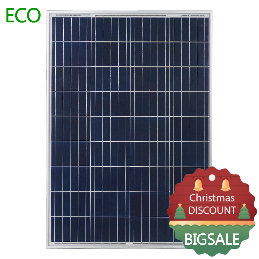 UK Stock 100W Watts 12V Volt Poly Solar Panel Battery Charging Off Grid Caravan Home