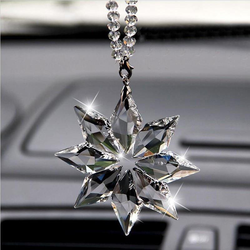 Estilo de coche Exquisito Cristal transparente Grandes Copos de nieve - Accesorios de interior de coche - foto 4