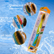 Bamboo Charcoal Toothbrush Adult Home High-grade Soft Silk Soft-bristled Tooth Brush Adult 836