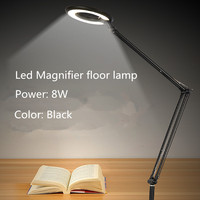 110V 220V Led Beauty Ring Manicure Lamp Eye protective Cold Light Shadowless Lamp+8X Magnifier Surgical Lamp Stand Floor light