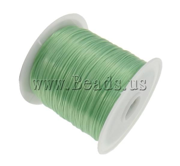 Free shipping!!!Elastic Thread,Designer, elastic, Korea Imported, green, 1mm, Length:Approx 1750 m, 25PCs/Bag, Sold By Bag
