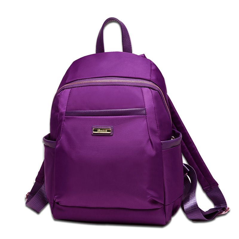 Fresh qianyiyuan style candy color Canvas Backpack design simple female middle school students bag casual Backpack primary school students school bag 3 6 candy color preppy style backpack