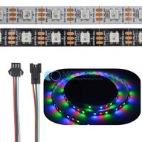 1 M 18 W 60 Светодиодный S/M SK6812 WS2812B светодиодный 5050 RGB индивидуально Пиксельная адресация полосы IP20 IP65 IP67 белый/черный PCB DC5V
