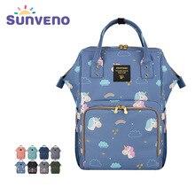 Sunveno mumya bebek bezi çantası marka büyük kapasiteli bebek bakım çantası seyahat sırt çantası çok fonksiyonlu mumya sırt çantası hemşire çantası yenidoğan için